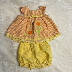 Good Lad Seer Sucker 2 piece outfit 12M